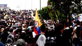 Estudiantes marchan por Bogotá en noviembre de 2018