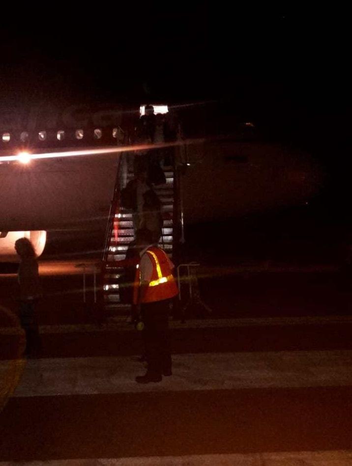 Evacuación pasajeros