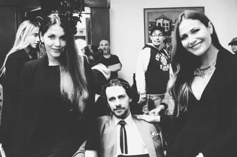 Lina Castrillón, Iván López y Cindy Better, actores.