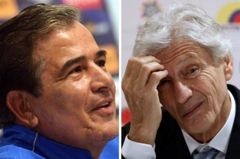 Jorge Luis Pinto y José Pékerman