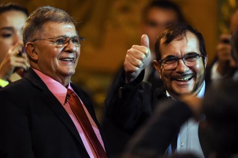 Rodrigo Londoño y Rodrigo Granda