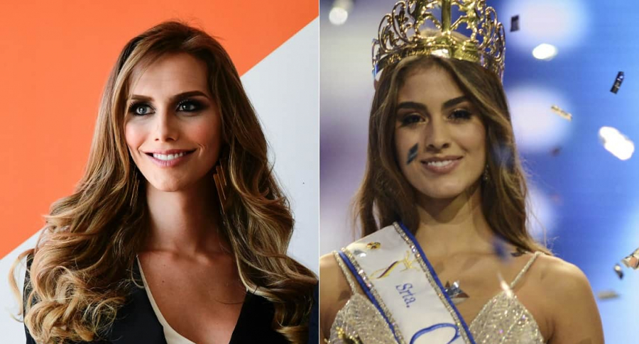 Ángela Ponce, Miss España, y Valeria Morales, Miss Colombia.