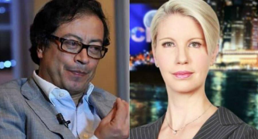 Gustavo Petro y Claudia Gurisatti