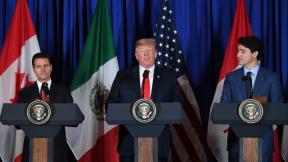 Mandatarios de México, Estados Unidos y Canadá