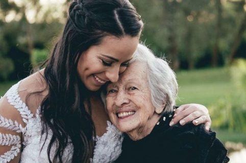 Mariana Pajón y su abuela