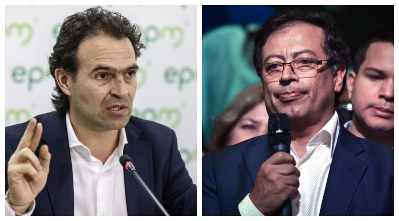 Federico Gutiérrez y Gustavo Petro