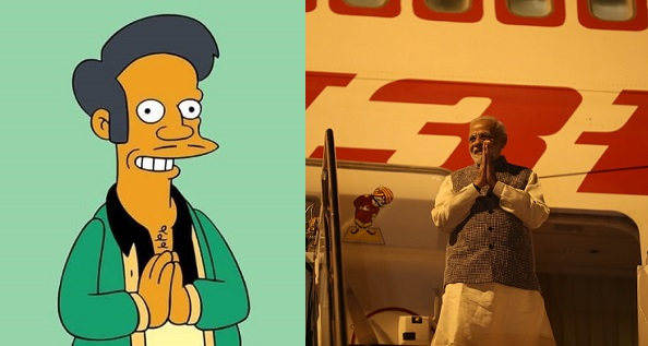Apu y Narendra Modi
