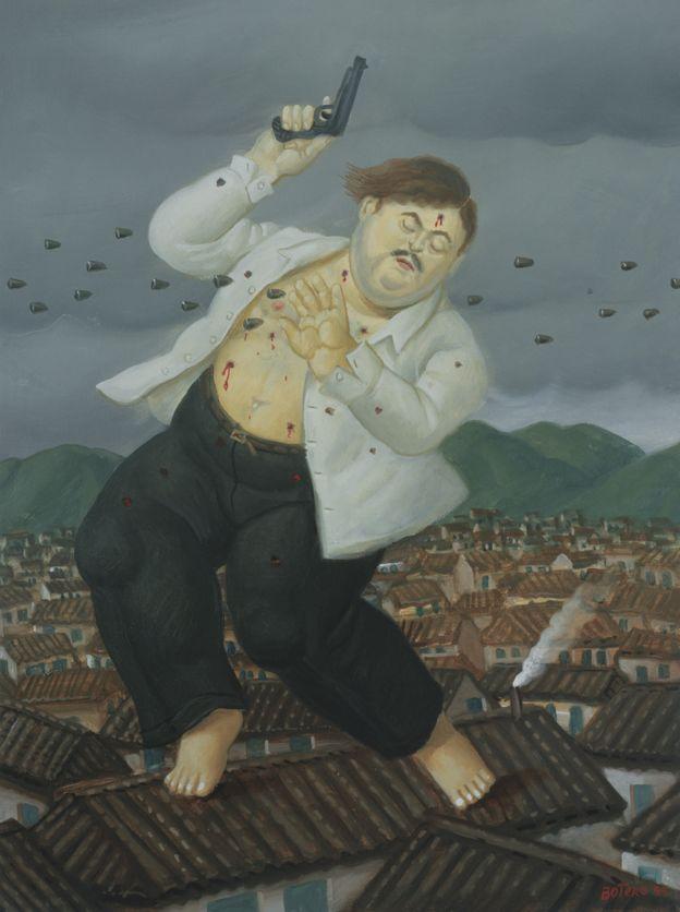 La Muerte de Escobar Cuadro