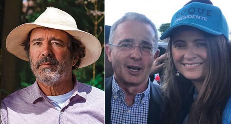 Simón Vélez, Álvaro Uribe y Paloma Valencia