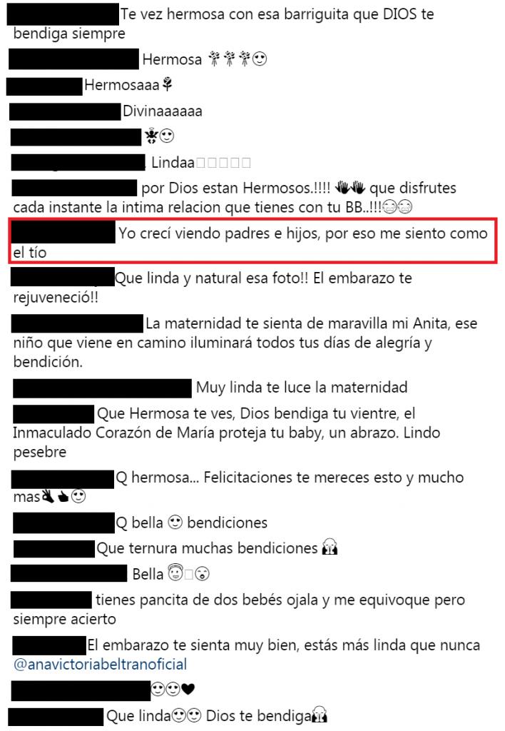 Comentarios foto Ana Victoria Beltrán