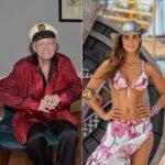 Hugh Hefner, creador de Playboy, y Catalina Aristizábal, presentadora.