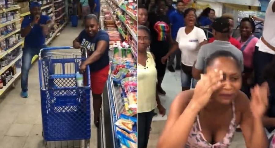 Video viral en supermercado