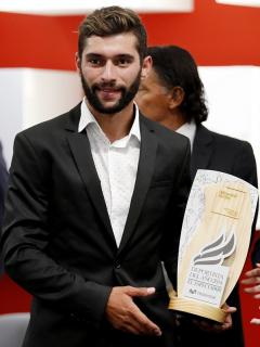 Fernando Gaviria participa en la ceremonia de premiación Deportista del Año 2018
