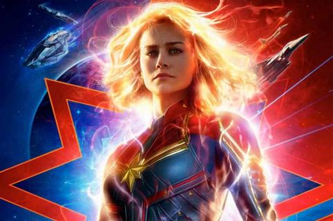 Póster de 'Capitana Marvel'.