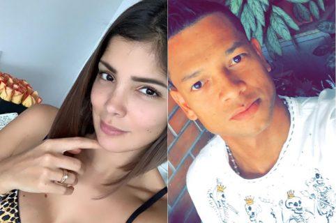 Andreina Fiallo, modelo, y Fredy Guarín, futbolista.