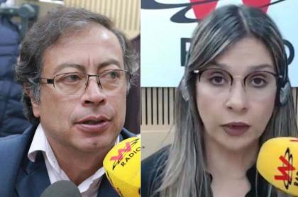 Gustavo Petro y Vicky Dávila