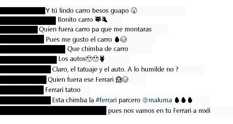 Comentarios a Maluma