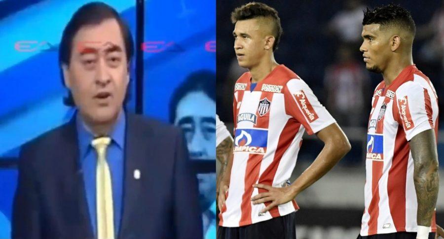 Rafael Linares y jugadores del Junior