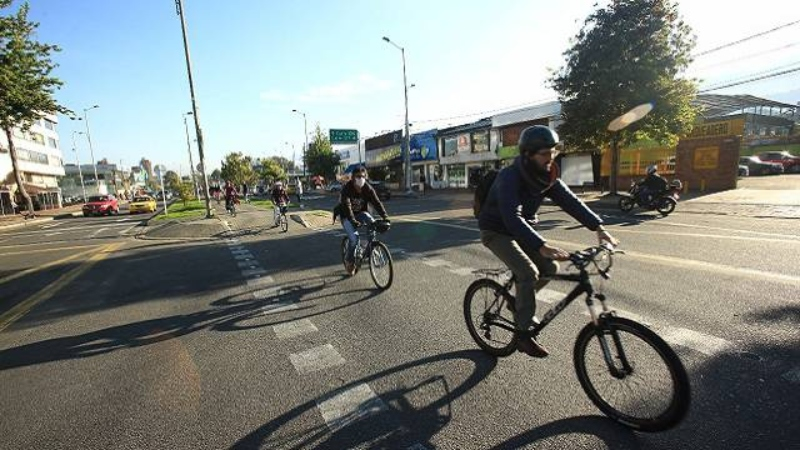 Ciclistas Bogotá