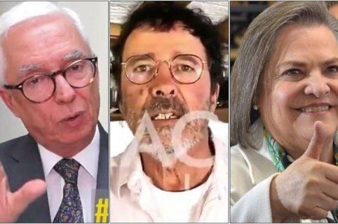 Jorge Robledo, Simón Vélez y Clara López