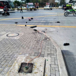 Accidente en la calle 26 de Bogotá