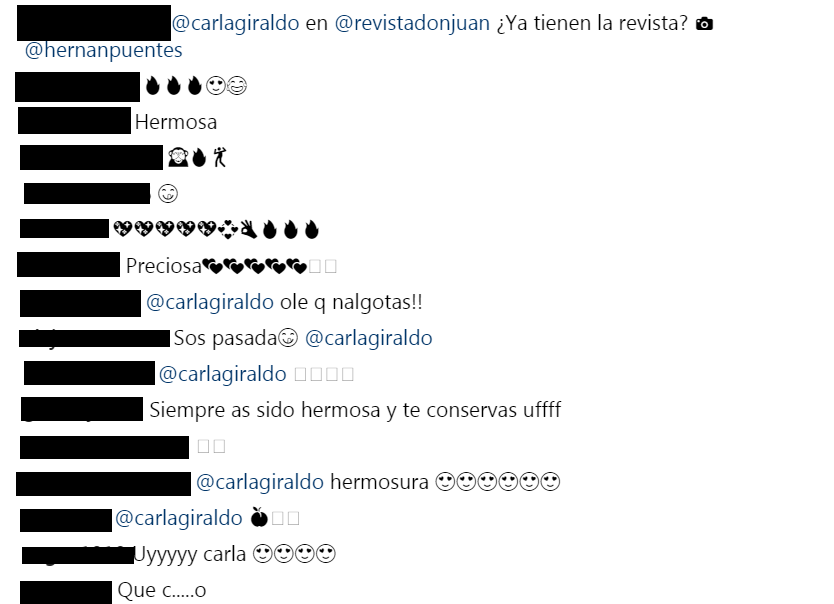 Comentarios Instagram revista DonJuan