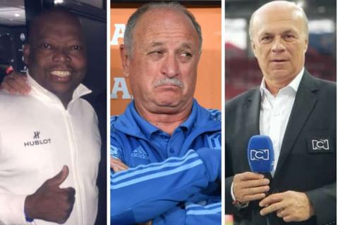 Tino Asprilla, Luiz Felipe Scolari y Carlos Antonio Vélez