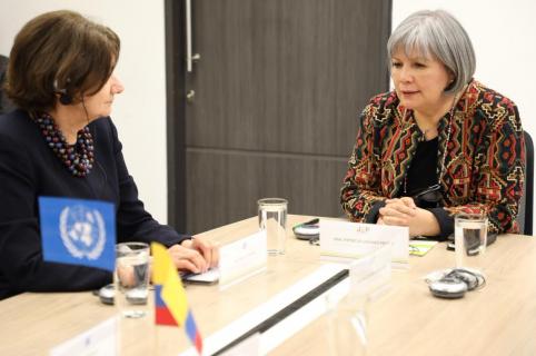 Rosemary Dicarlo, secretaria General de Asuntos Políticos de ONU, en la JEP