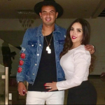 Edwin Cardona y su esposa