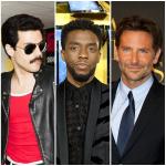 Christian Bale, Rami Malek, Chadwick Boseman y Bradley Cooper