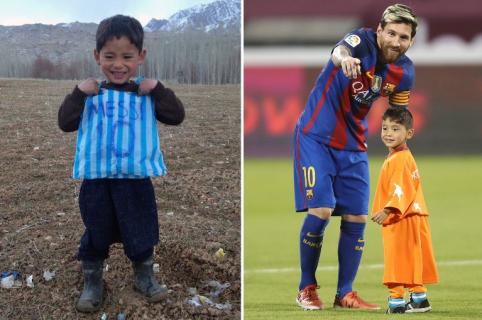 Murtaza Ahmadi, niño conocido como el Messi afgano