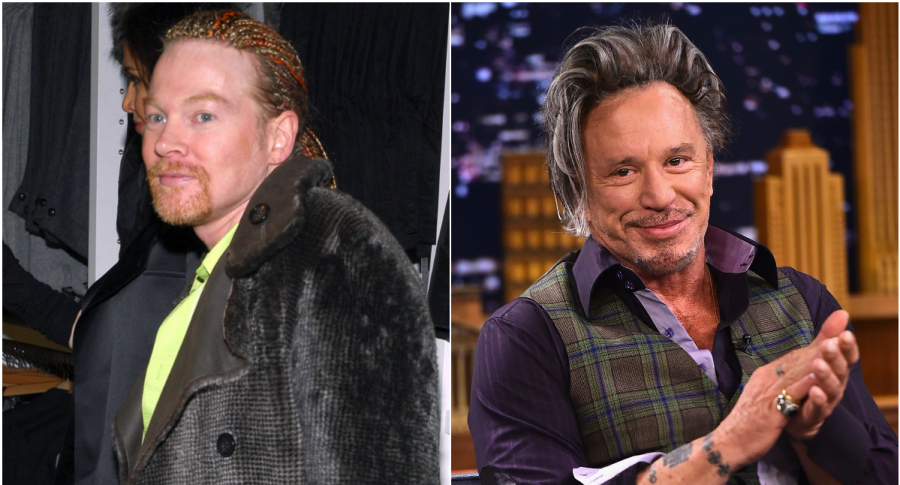 Axl Rose y Mickey Rourke