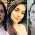 Claudia Morales, Eileen Moreno y Carolina Sabino