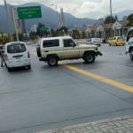 Camioneta involucrada en accidente