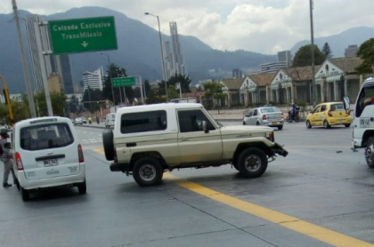 Camioneta involucrada en accidente