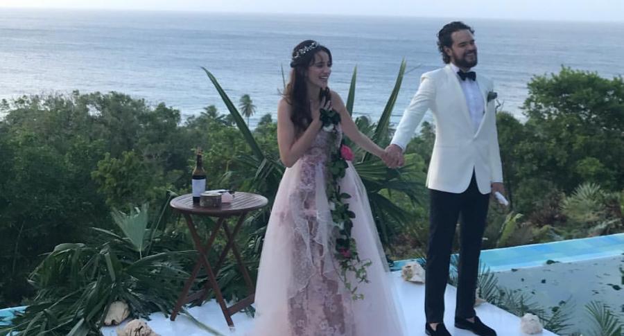 Laura Londoño y su esposo Santiago Mora Bahamón