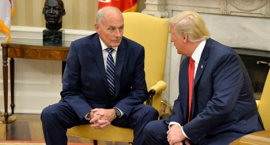 John Kelly y Donald Trump