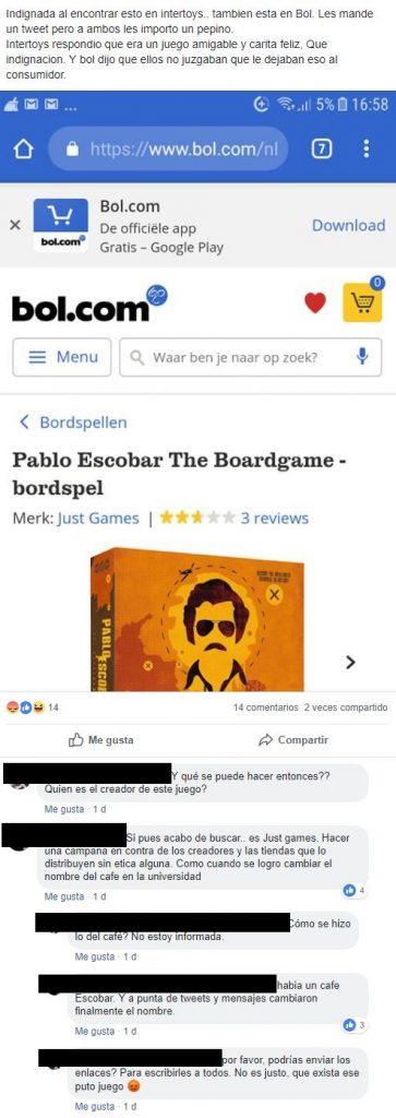 Comentarios sobre Juego de Escobar