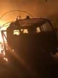 Camiones quemados