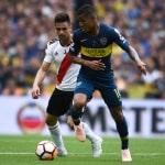 Wilmar Barrios, en el superclásico argentino