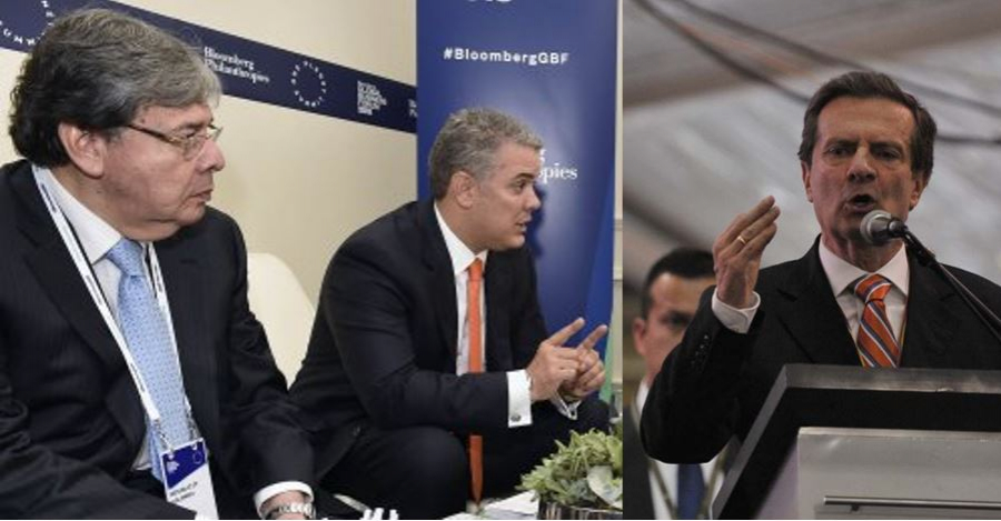 Carlos Holmes, Iván Duque y Fernando Londoño