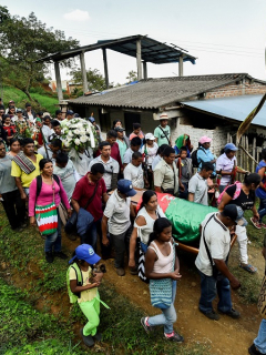 Funeral líder indígena