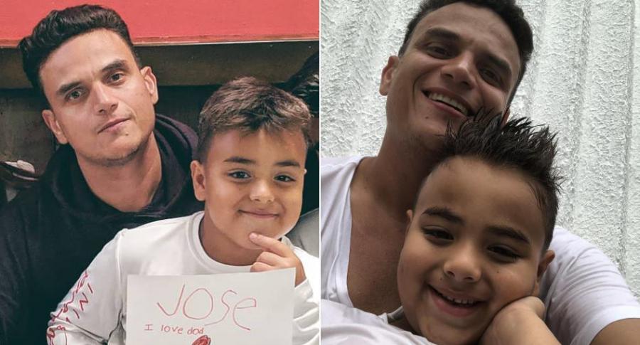 Silvestre Dangond, cantante, con su hijo Silvestre José, conocido como 'Bebé' Dangond.