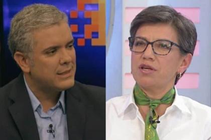 Iván Duque y Claudia López