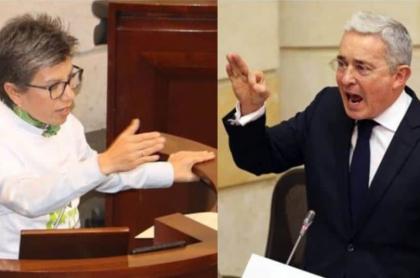 Claudia López y Álvaro Uribe