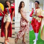 Miss Colombia, Mis El Salvador y Miss Gran Bretaña