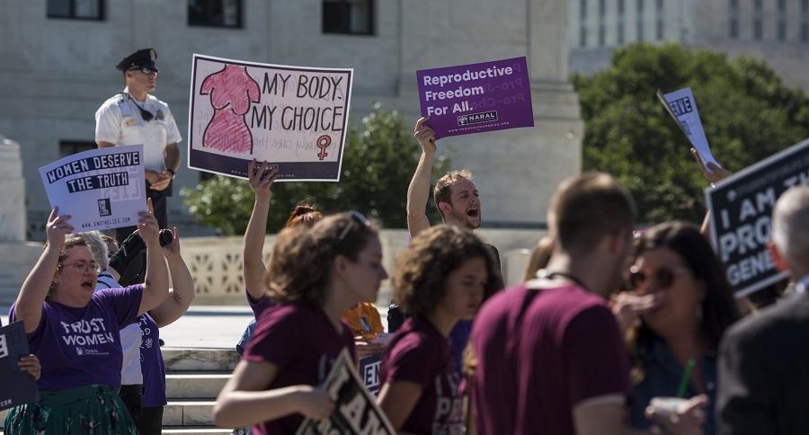 Activistas a favor del aborto