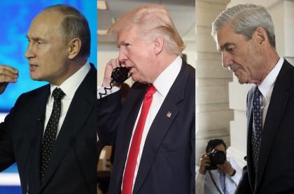 Vladimir Putin, Donald Trump y Robert Mueller