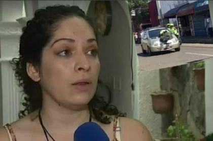 Mujer que arrolló a policía