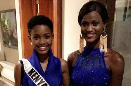 Miss Kenya y Miss Sierra Leona